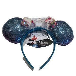 Minnie Mouse headband sequins Ombre blue&Purple